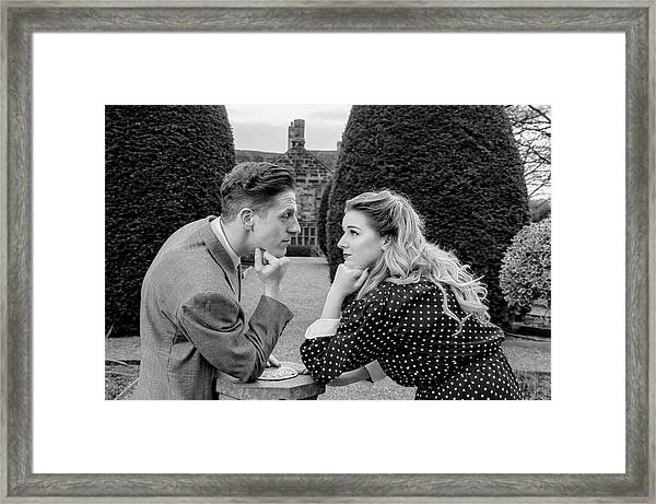 It's In The Eyes Bw Framed Print