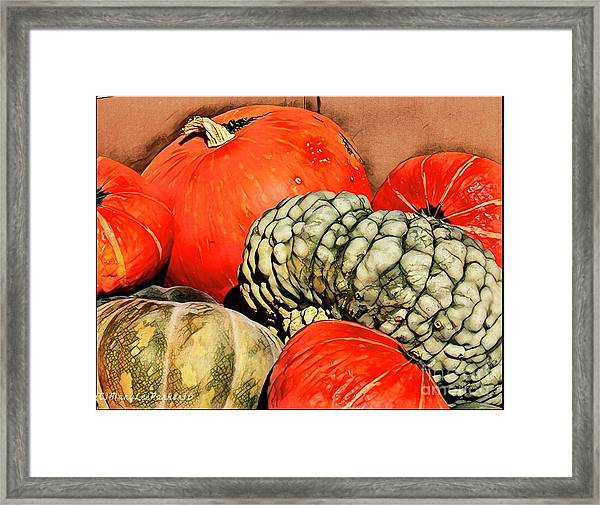 It's Pumpkin  Season Framed Print