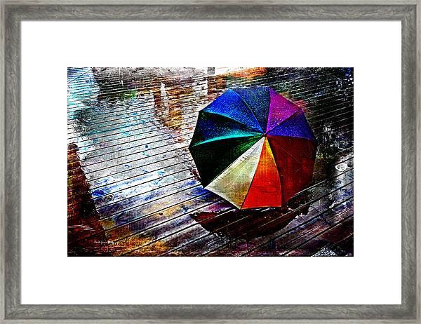 It's Raining Again Framed Print