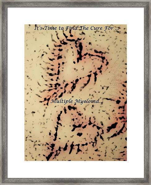 It's Time To Find A Cure... Framed Print