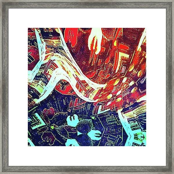 Foot Fall Framed Print