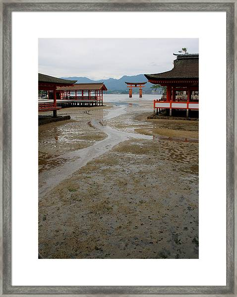 Itsukushima Shrine And Torii Gate Framed Print