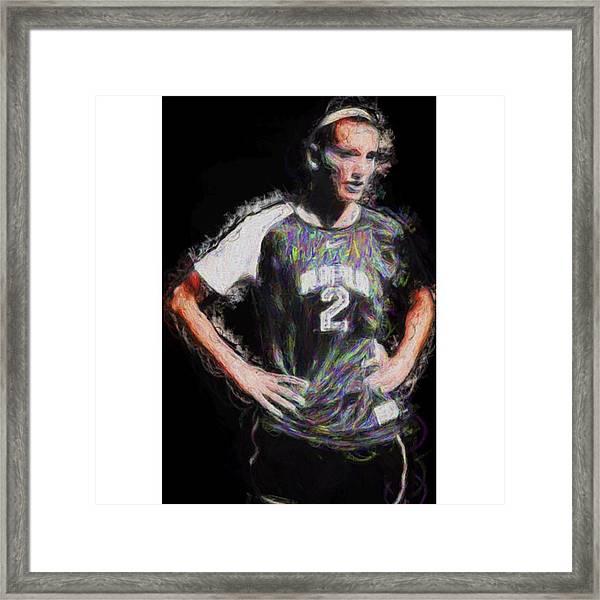 @iupui #soccer #futbol #painting Framed Print