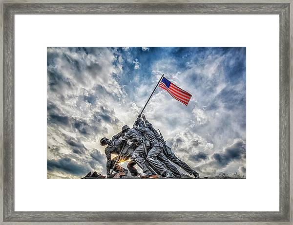 Iwo Jima Memorial Framed Print