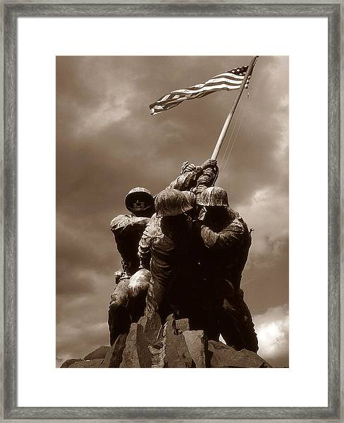 Iwo Jima War Memorial Washington Framed Print
