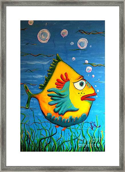 Izzy On The Itch Framed Print