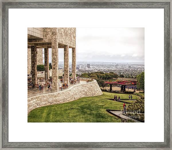 J. Paul Getty Museum Los Angeles Landscape Architecture  Framed Print