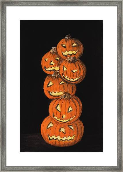 Jack-o-lantern Framed Print
