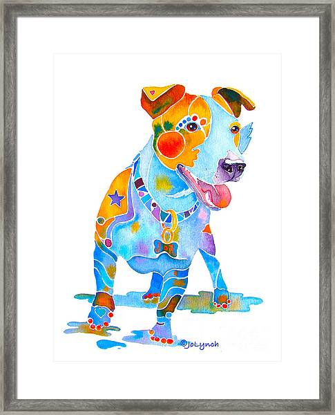 Jack Russell Terrier Colorful Painting Framed Print