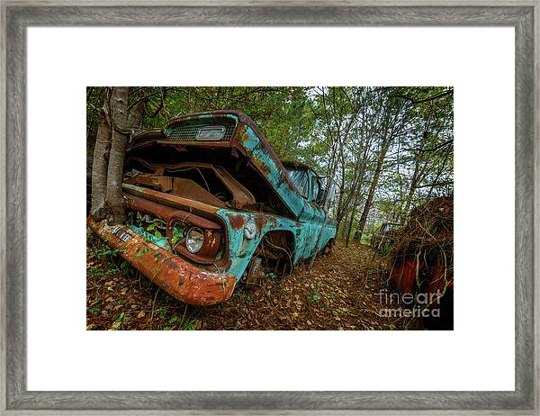 Jacked Up Gmc Framed Print
