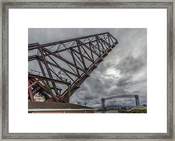 Jackknife Bridge To The Clouds Framed Print