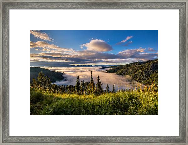 Jackson Hole From Above Framed Print