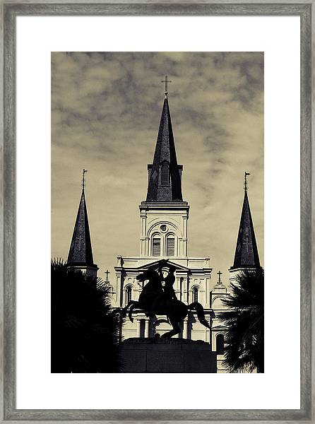 Jackson Square - Split Tone Framed Print