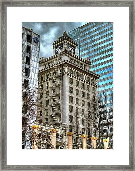 Jackson Tower Portland Oregon Framed Print