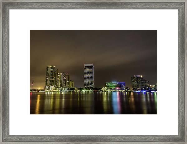 Jacksonville Landing Framed Print