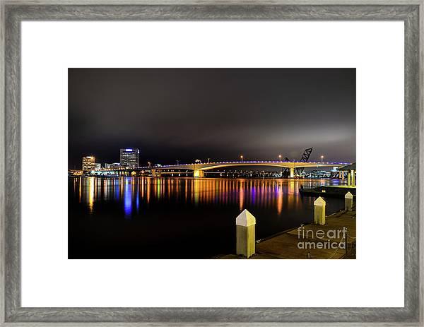 Jacksonville Night Sky Framed Print