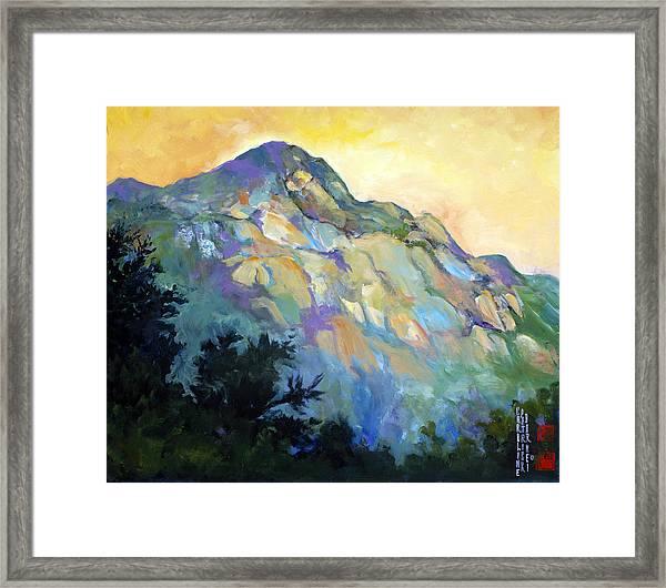 Jade Mountain Framed Print