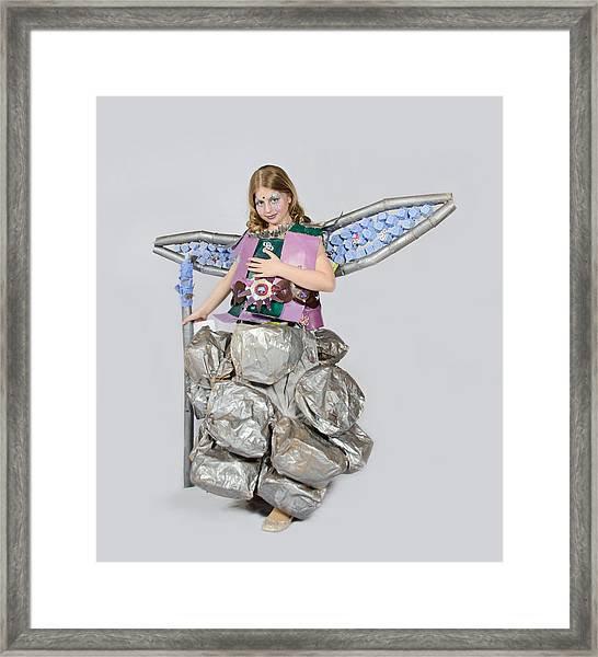 Jaeda In Techno Fairy Framed Print