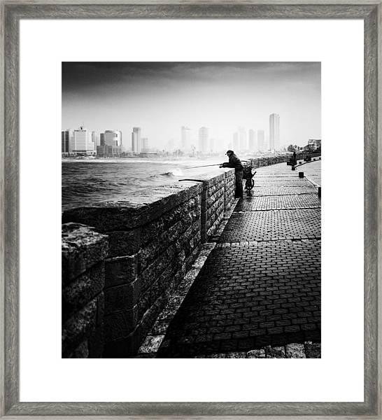 Jaffa Port Framed Print