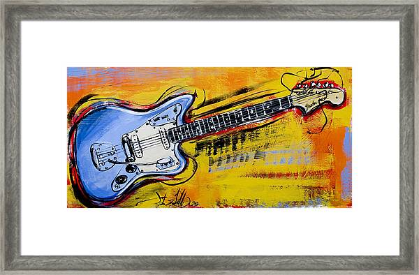 Jaguar Fender Guitar Framed Print