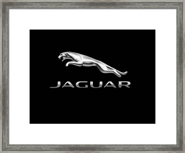 Jaguar Logo Framed Print