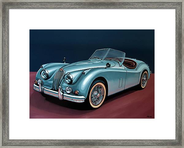 Jaguar Xk140 1954 Painting Framed Print