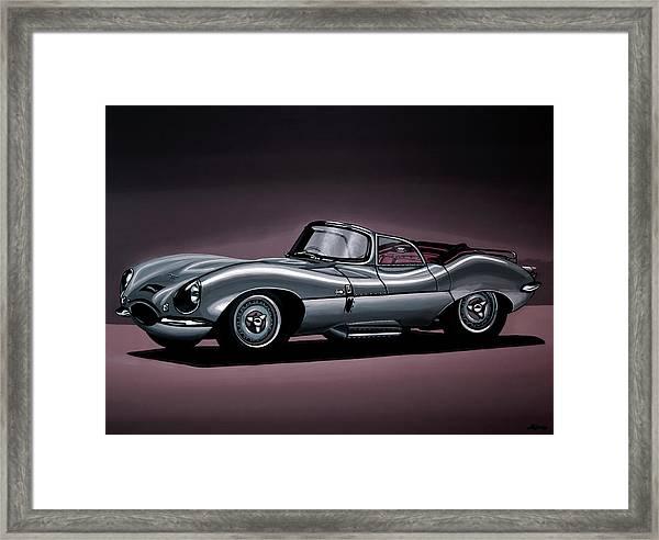 Jaguar Xkss 1957 Painting Framed Print