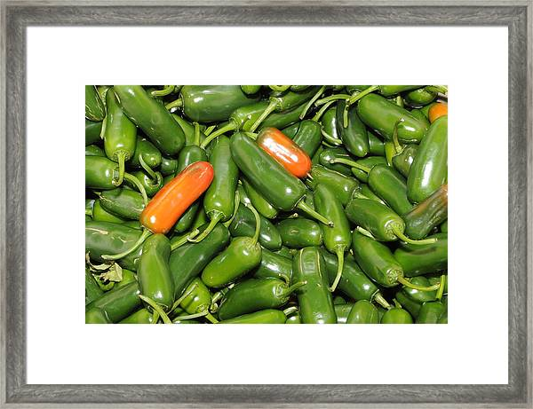 Jalapeno Peppers Framed Print
