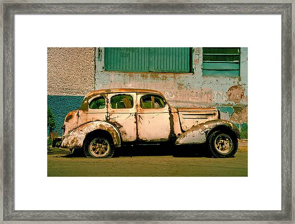 Framed Print featuring the photograph Jalopy by Skip Hunt