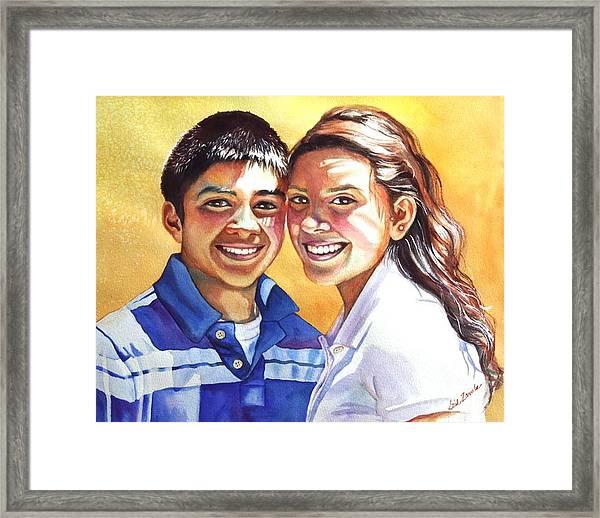 James And Bella Framed Print by Gail Zavala