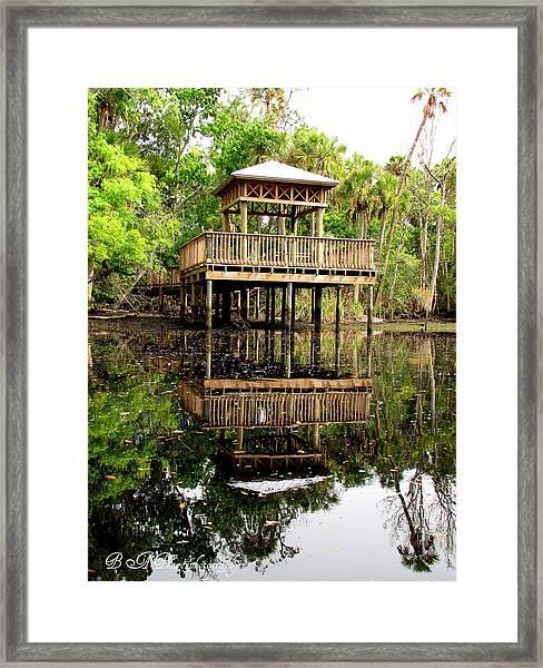 James E Grey Fishing Pier Framed Print