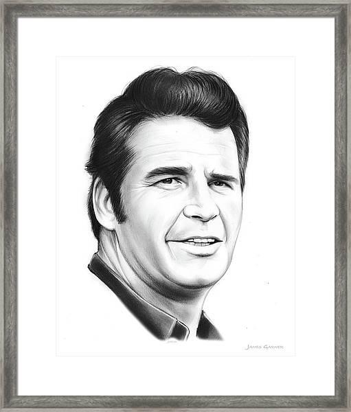 James Garner Framed Print