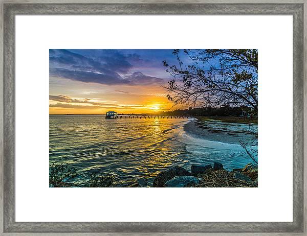 James Island Sunrise - Melton Peter Demetre Park Framed Print