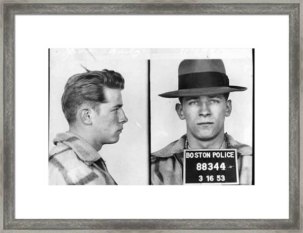 James Whitey Bulger Mug Shot 1953 Horizontal Framed Print