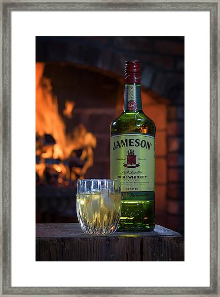 Jameson By The Fire Framed Print
