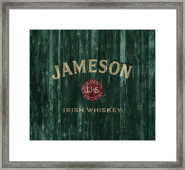 Jameson Irish Whiskey Barn Door Framed Print