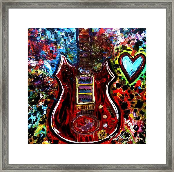 Jaming With Garcia Framed Print