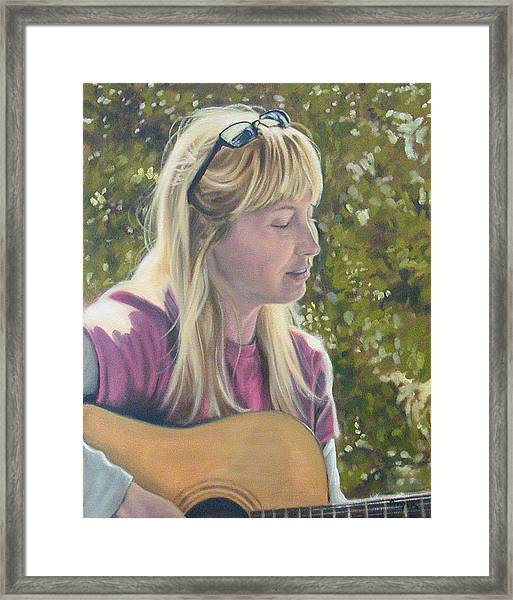 Janine Singing Framed Print