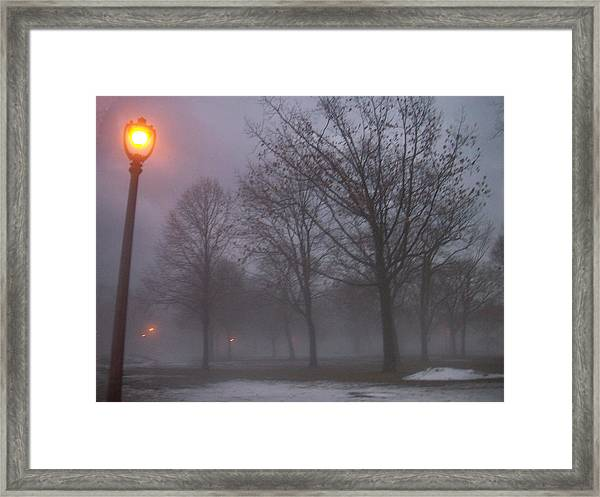 January Fog 3 Framed Print