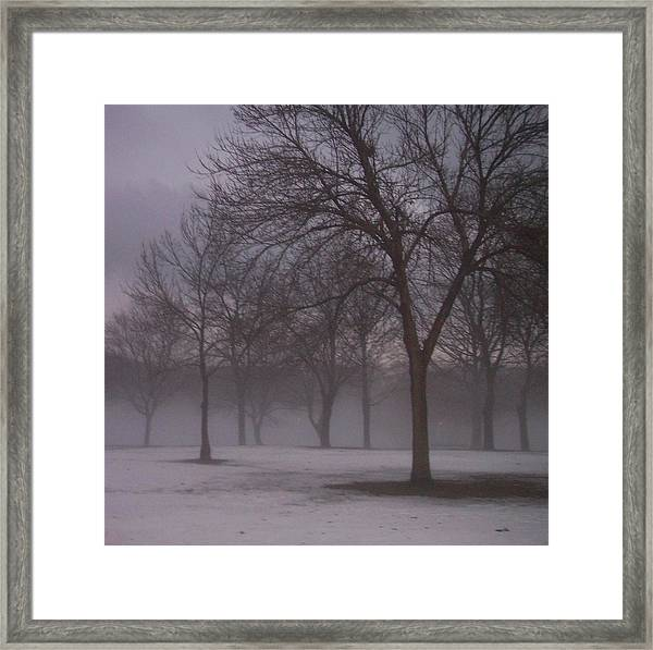 January Fog 4 Framed Print