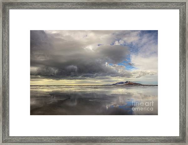 January Storm Framed Print