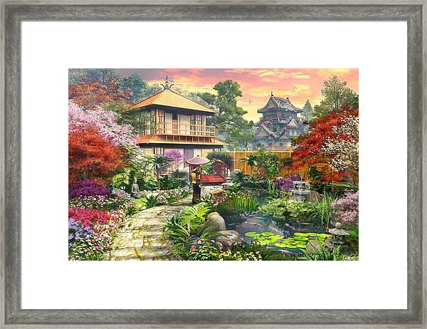 Japan Garden Variant 2 Framed Print