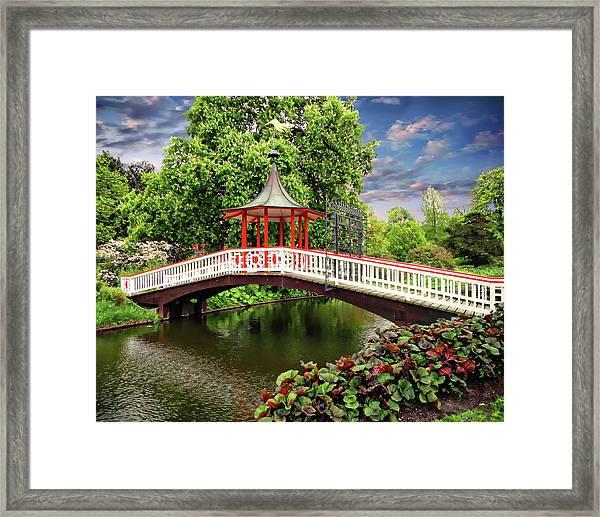 Japanese Bridge Garden Framed Print