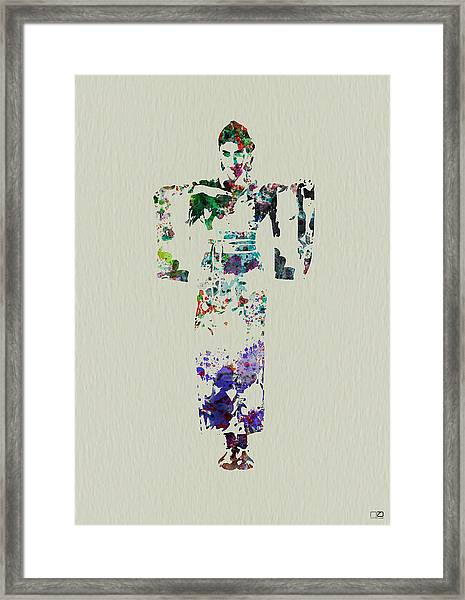 Japanese Dance Framed Print