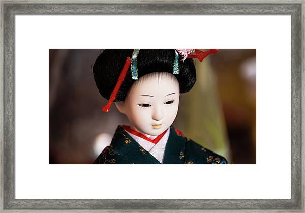 Japanese Doll Framed Print