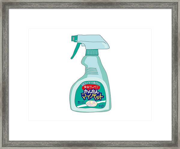 Japanese Kitchen Detergent Framed Print