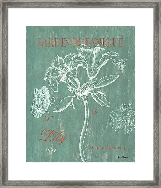 Jardin Botanique Aqua Framed Print
