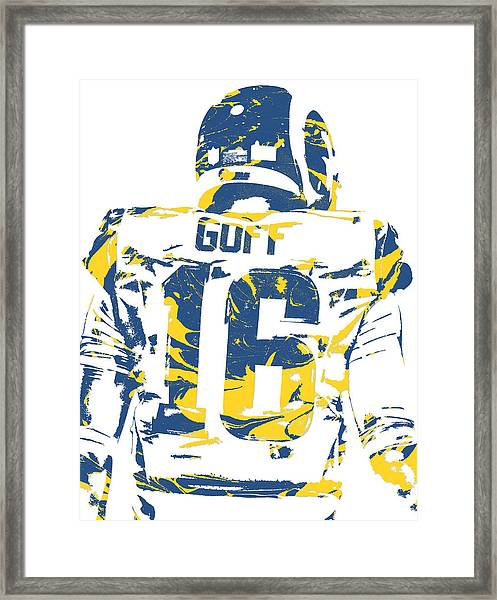 Jared Goff Los Angeles Rams Pixel Art 2 Framed Print