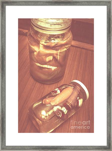 Jars Of Evil Monsters Framed Print