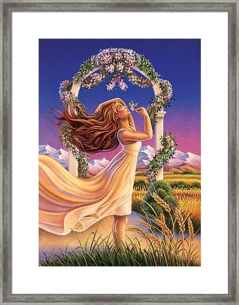 Jasmine - Sensual Pleasure Framed Print